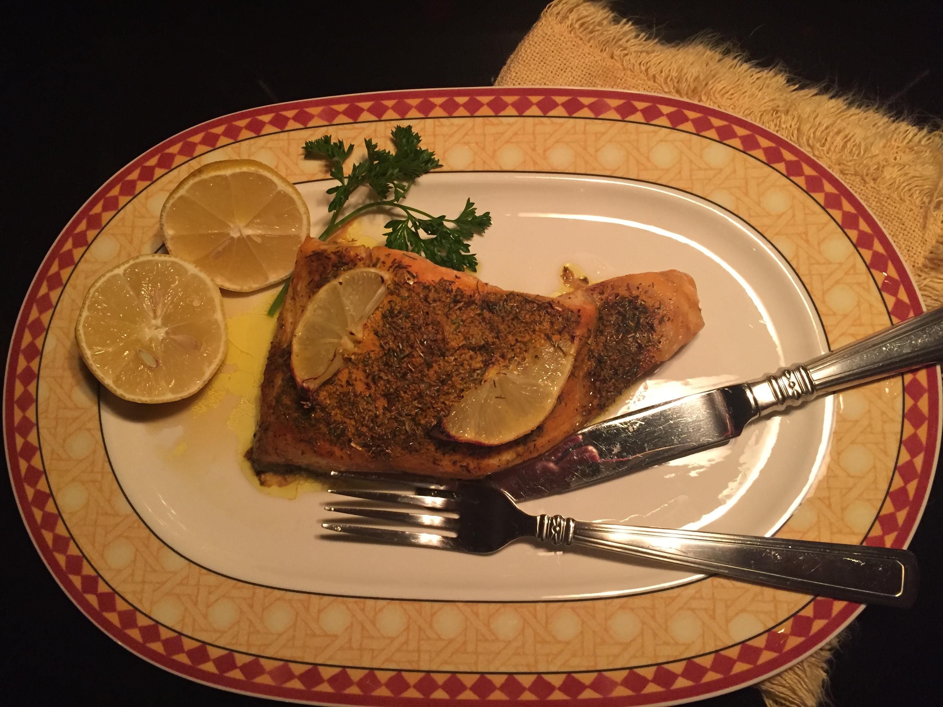 Lemon Thyme Turmeric Salmon