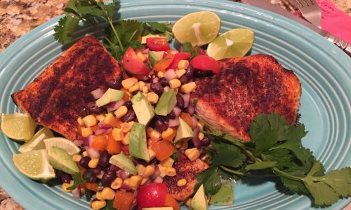 Chili Rubbed Salmon